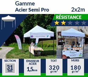 Barnum Pliant - Tonnelle Acier Semi Pro 2mx2m