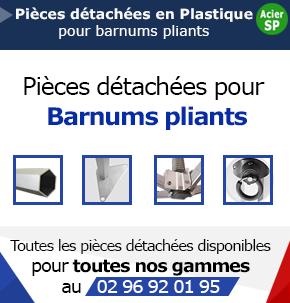 Pièces en Plastique - Pour Barnums Acier Semi-Pro et Alu Loisirs