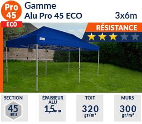 Barnum Pliant - Tente pliante Alu Pro 45 ECO 3m x 6m