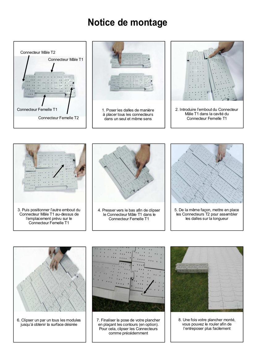 Notice de montage de notre sol clipsable et enroulable
