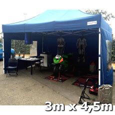Paddock de course bleu 3x4,5m Acier Premium Norme de résistance au feu M2