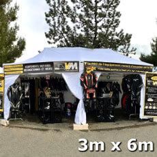 Tente pliante Acier Premium de 3x6m imprimée pour tous vos événements