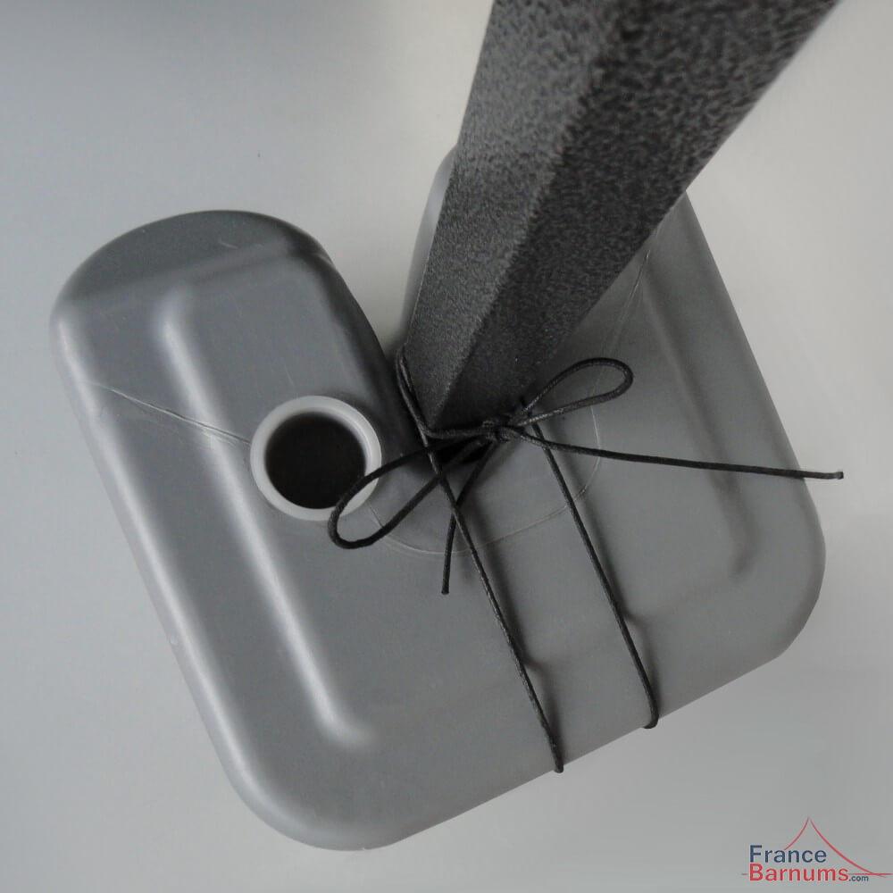 Lest poids en plastique à remplir avec lien pour barnum pliant francebarnums.com