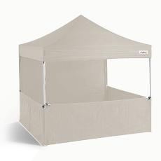 Barnum Stand Tonnelle pliante 3x3m blanche avec bâche de demi côté