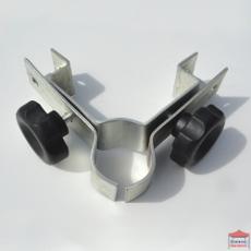 Connecteur pour fixer deux barres de maintien de demi-parois en angle droit au pied d'une tonnelle Pro 45 M2