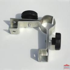 Pièce de connection pour l'assemblage d'un pied de chapiteau Pro 45 M2 et de 2 barres de demi-côtés positionnés en angle droit