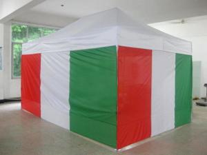 Côtés de 3m et 4,5m pour tonnelle pliante imprimés aux couleurs du drapeau italien