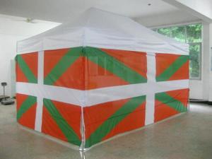 Côtés de 3m et 4,5m pour tonnelle pliante imprimés aux couleurs du drapeau basque