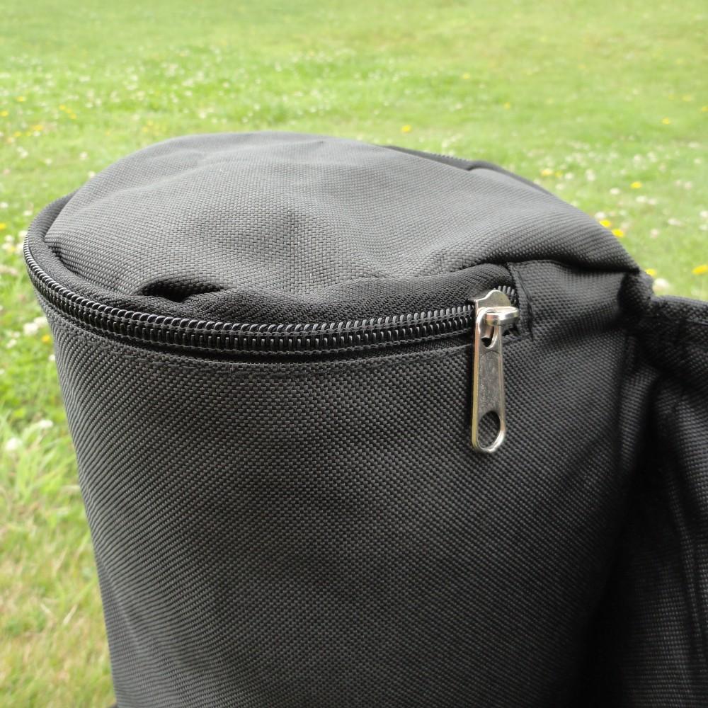 Fermeture éclair sur sac à remplir de 28kg pour lestage d'un barnum pliant francebarnums.com
