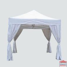 Rideau plissé de décoration blanc pour tente de réception pliante