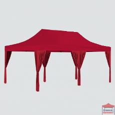 Rideau d'angle, décliné en trois couleurs (blanc, rouge et taupe) pour agrémenter votre barnum pliant, et ainsi occulter les pieds de votre structure