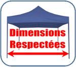 Dimensions respectées