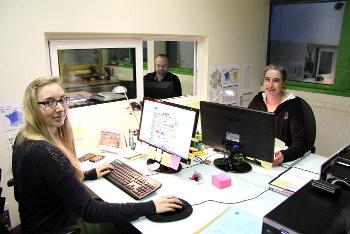 Une partie de l'Equipe de France-Barnums dans les bureaux