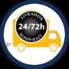 Transport sous 24 à 72h selon votre département de résidence