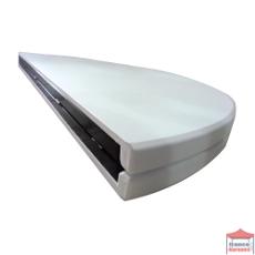 Le plateau de notre table pliante ronde de réception est pliable en 2 parties afin de transporter votre table sous forme de valise
