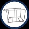 Découvrez notre chariot de transport, pratique et maniable pour empiler et déplacer jusqu'à 20 tables !