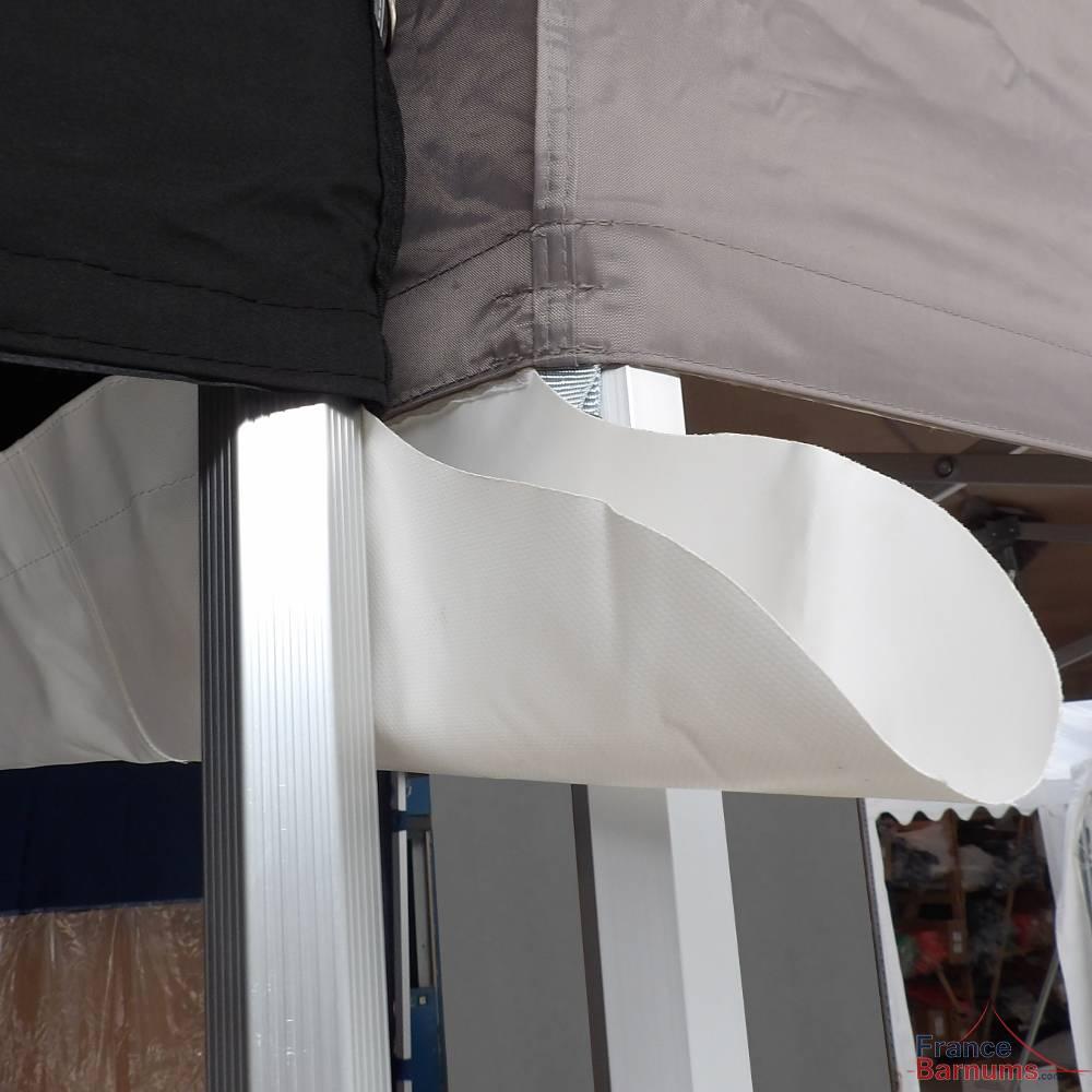 Gouttière en PVC de 4m à positionner entre deux stands pliants