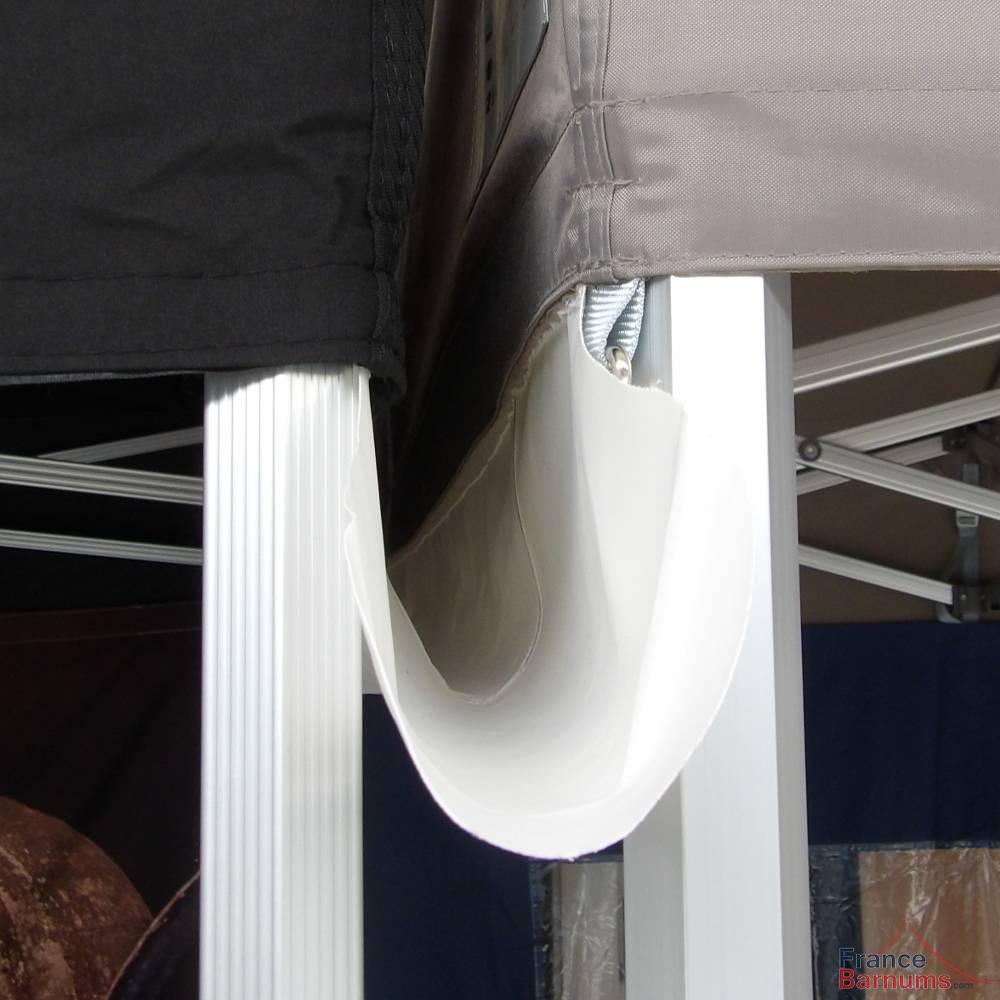 Gouttière en PVC de 4m à positionner entre deux barnums pliants