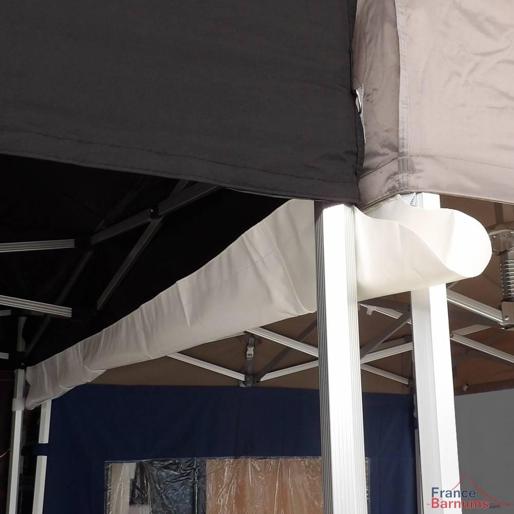 Gouttière en PVC de 4m à positionner entre deux tentes pliantes