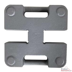 Poids / Lest double en acier de 20kg finition peinture anti-corrosion pour tonnelle pliante france-barnums.com