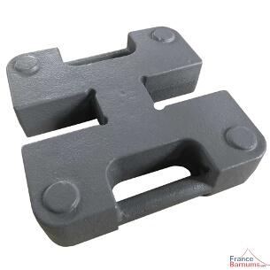 Poids / lest double en acier de 20 kg finition peinture anti-corrosion pour chapiteau pliant france-barnums.com