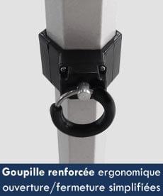 structure barnum pliant acier équipée de goupilles