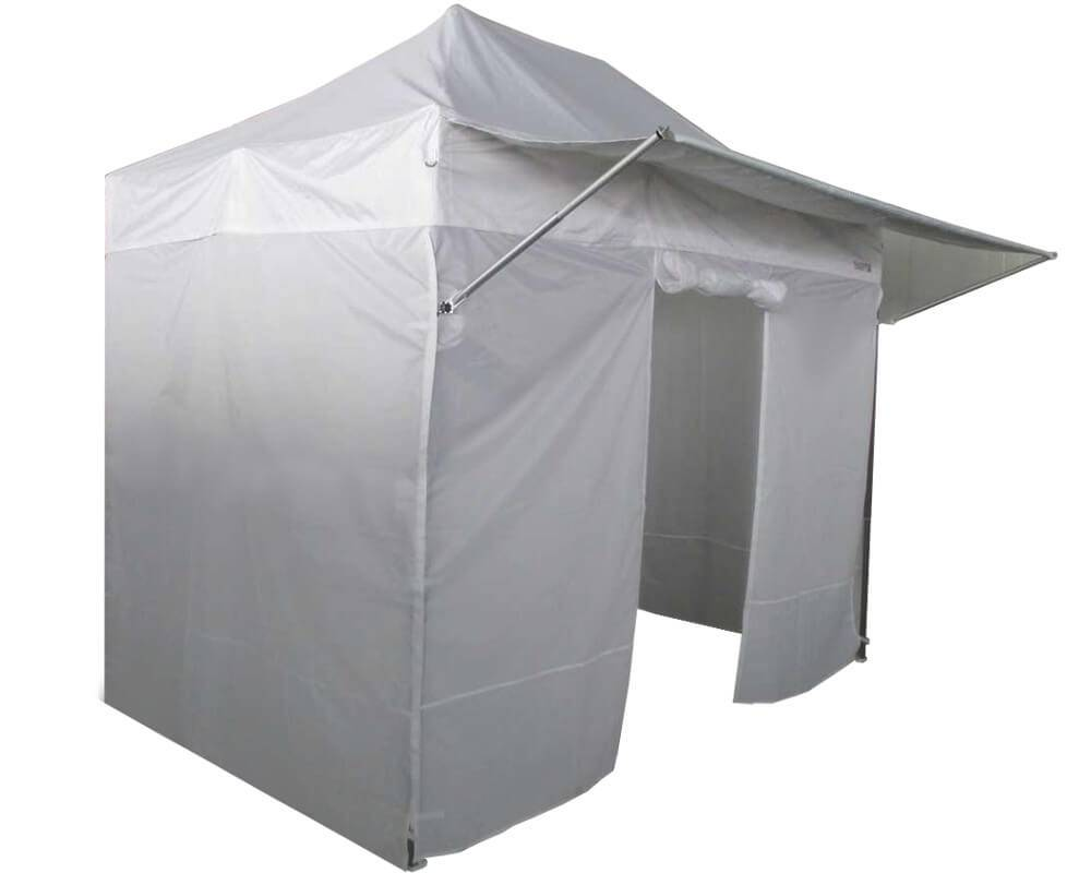 Barnum 2x3m Acier Semi Pro France-Barnums avec Packs 4 murs (3 pleins et un avec porte) + casquette pare-soleil amovible