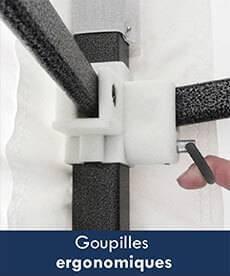 structure barnum goupilles ergonomiques
