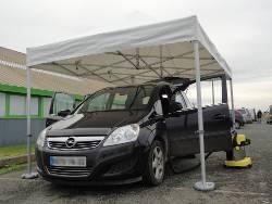 Barnum pliant France-Barnums.com Aluminium Pro de 3x4,5m normalisé anti-feu M2
