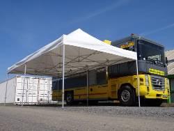 Barnum pliant Aluminium Pro 55 M2 de 4mx8m auvent camion