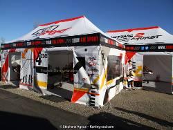 Tente pliante Alu Pro 55 M2 de 4mx8m personnalisée total cover