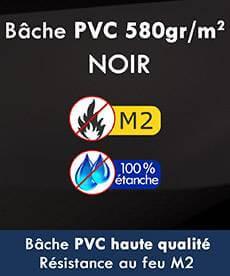 Notre tente pliante Alu pro 55 avec une épaisse en PVC 580g/m² certifiée M2 et 100% étanche