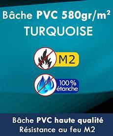 tente pliante bâche épaisse en PVC 580g/m² certifié M2 et 100% étanche