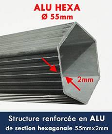 Notre tente pliante Alu pro 55 à une structure renforcée en alu diamètre 55mmx2mm