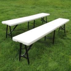 En extérieur comme en intérieur, notre banc vous permetta de proposer un espace convivial autour de notre table pliante rectangulaire de 183cm