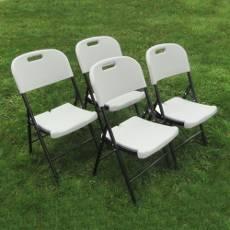 Lot de 4 chaises pliantes blanches pour collectivités ou particuliers