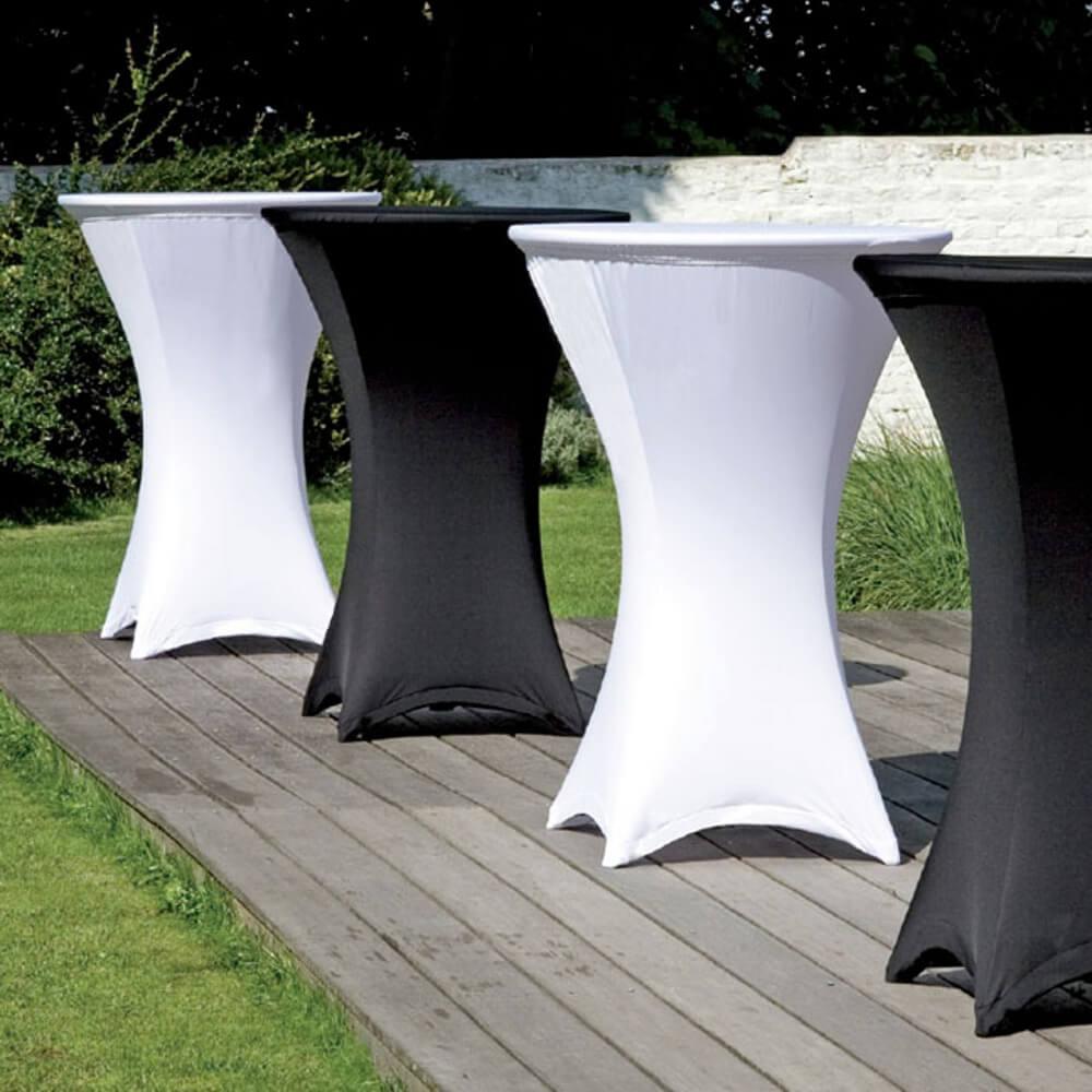 Notre table mange-debout pour réception est l'élément idéal pour un événement en intérieur comme en extérieur