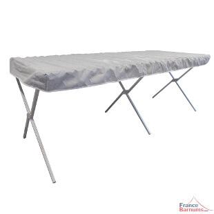 Matériel forain - Table présentoir de marché pliante en aluminium pour un minimum d'encombrement