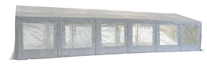 Vue latérale de notre tente de réception - chapiteau événementiel de 5m x 12m avec Tubes de 38mm
