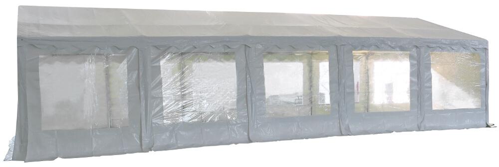 Vue latérale de notre tente de réception - chapiteau événementiel de 6m x 10m avec Tubes de 38mm
