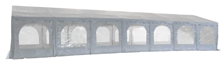 Vue latérale de notre tente de réception - chapiteau événementiel de 7m x 15m avec Tubes de 50mm