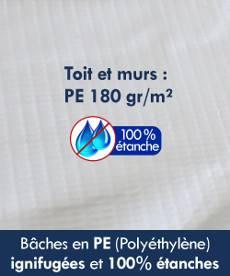 Bâches en Polyéthylène (PE) 180gr/m² 100% étanches
