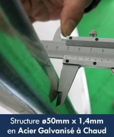 Structure de notre tente de réception ø50mm x 1,4mm en Acier Galvanisé à Chaud