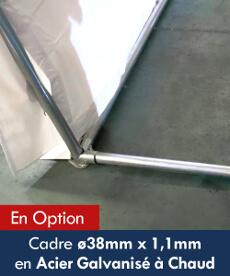 Cadre ø38mm x 1,1mm en Acier Galvanisé à Chaud pour la rigidification de notre tente de réception