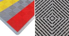 Dalles de sol modulable à clipser pour stand, barnum pliant, paddock, garage, foires, expositions, salons...