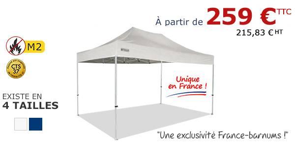 Barnum pliant à partir de 259€ sur France-Barnums.com