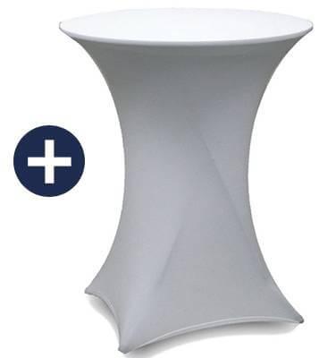 Housse en lycra pour table haute imprimée