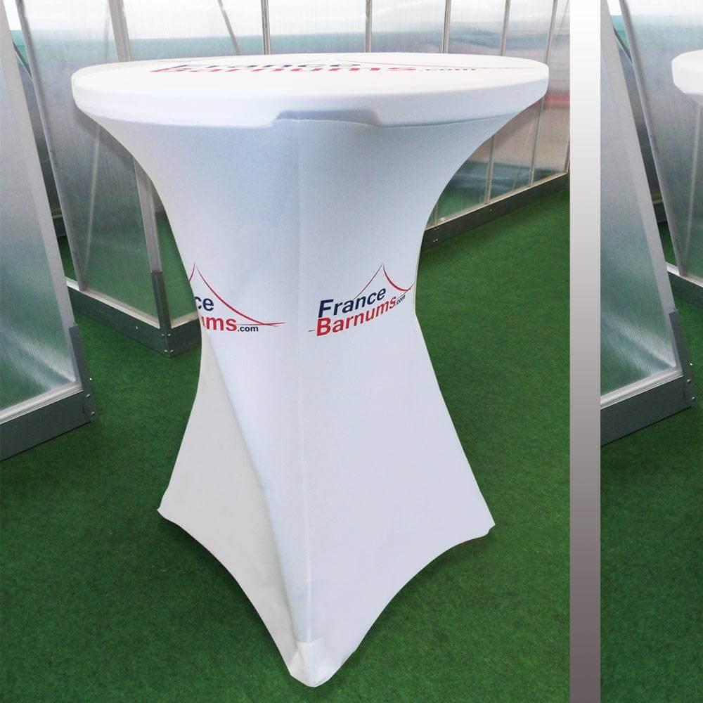 Une housse personnalisée pour table haute pliante