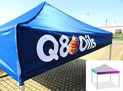 bandeau de barnum pliant personnalisé q8oils