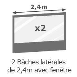 Inclus dans votre colis : Notre Barnum ALU PRO 45 de 2,4x2,4m  est livré avec ses 4 parois latérales (offert).